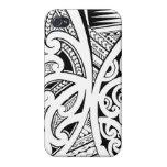 Estilos del tatuaje, maorí mezclados, samoano y po iPhone 4 fundas