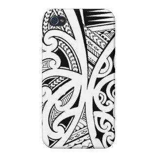 Estilos del tatuaje maorí mezclados samoano y po iPhone 4 fundas