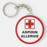 Estima - Aspirin alergia Llavero Redondo Tipo Pin