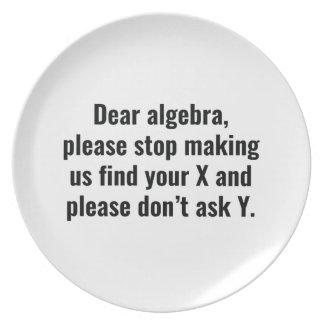 Estimada Algebra Platos De Comidas
