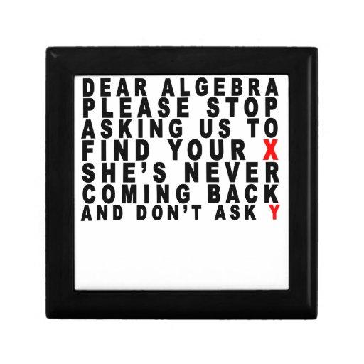 Estimada Algebra T-shirts.png Cajas De Regalo