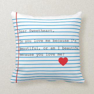 Estimada almohada del amor