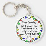 Estimada bici de la suciedad de Santa Llaveros Personalizados