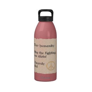 Estimada botella de agua del personalizado de la h
