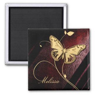 Estimada Butterfly ID199 Imán Cuadrado