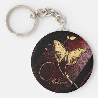 Estimada Butterfly Llavero Redondo Tipo Pin