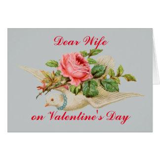 Estimada esposa de la tarjeta del día de San