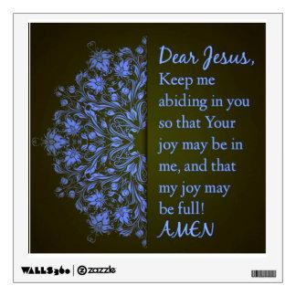 Estimada etiqueta de la pared del rezo de Jesús
