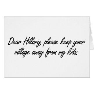 Estimada Hillary, tarjeta