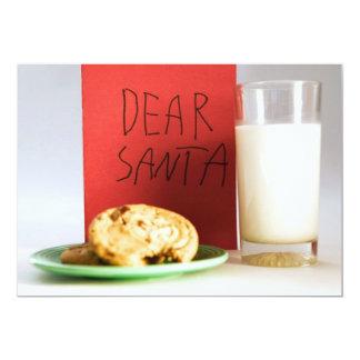 Estimada leche de Santa e invitación del navidad