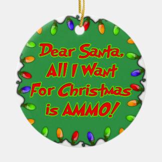 estimada letra del deseo del navidad de la adorno navideño redondo de cerámica