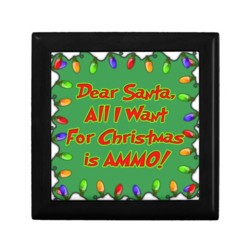 estimada letra del deseo del navidad de la munició joyero cuadrado pequeño