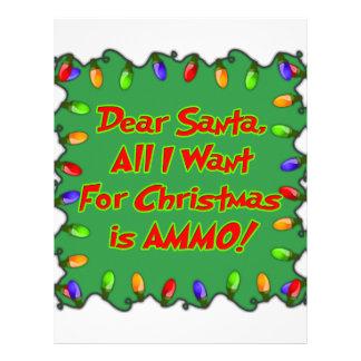 estimada letra del deseo del navidad de la munició plantilla de membrete