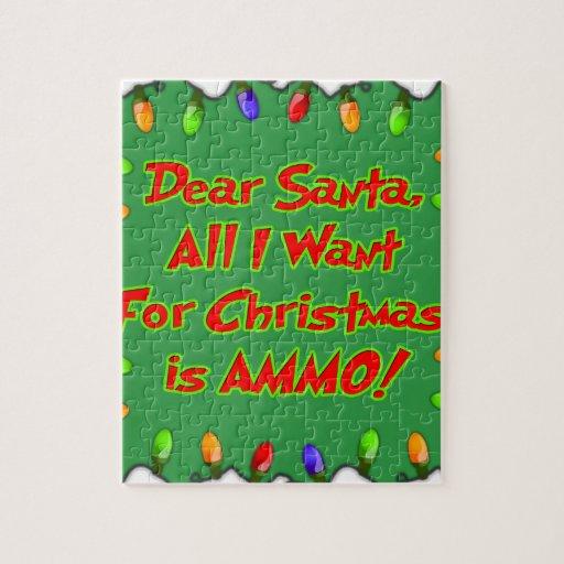 estimada letra del deseo del navidad de la munició rompecabeza con fotos