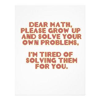 Estimada Math Membrete Personalizado