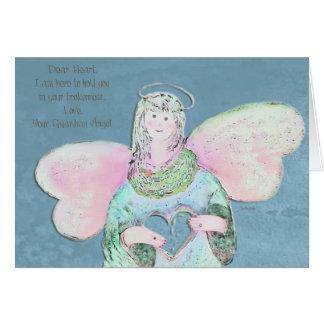 Estimada tarjeta de felicitación del ángel del