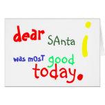 Estimada tarjeta de Navidad de Santa