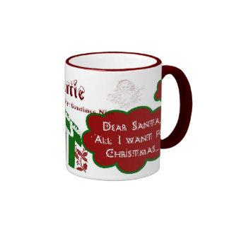 Estimada taza del campanero de Santa - personalice