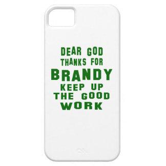Estimadas gracias de dios por el brandy iPhone 5 carcasa