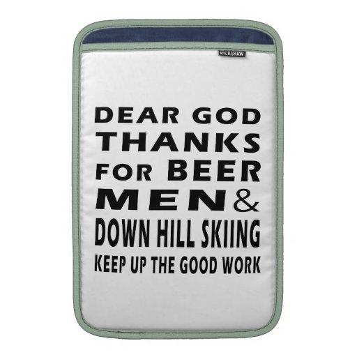 Estimadas gracias de dios por el esquí de los homb funda para macbook air