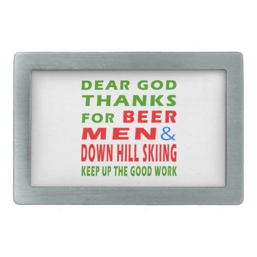 Estimadas gracias de dios por el esquí de los homb hebilla de cinturon rectangular
