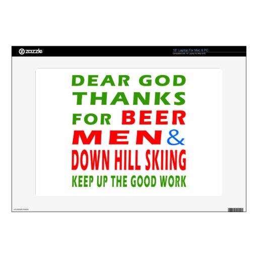 Estimadas gracias de dios por el esquí de los homb 38,1cm portátil calcomanías