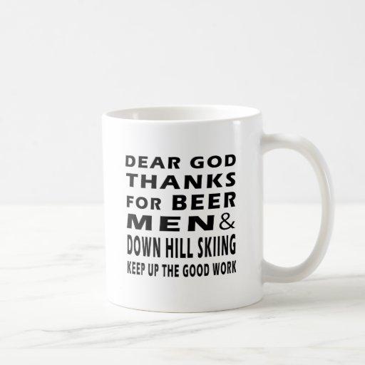 Estimadas gracias de dios por el esquí de los homb tazas de café