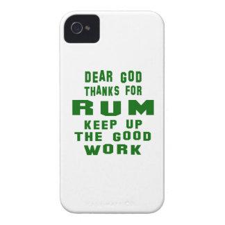 Estimadas gracias de dios por el ron iPhone 4 Case-Mate cobertura