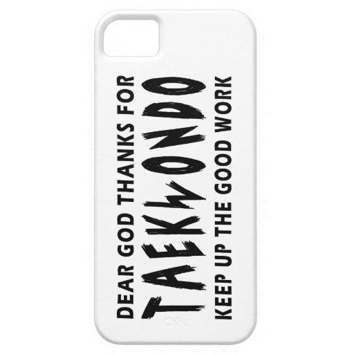 Estimadas gracias de dios por el Taekwondo iPhone 5 Case-Mate Funda