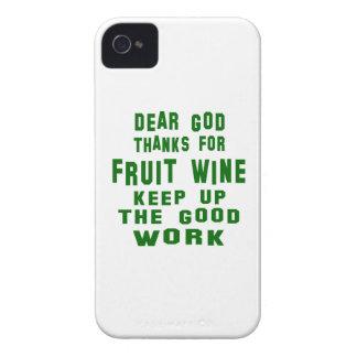 Estimadas gracias de dios por el vino de fruta iPhone 4 Case-Mate cobertura