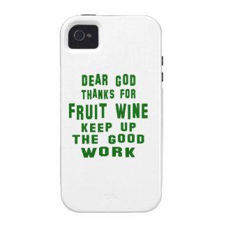 Estimadas gracias de dios por el vino de fruta vibe iPhone 4 funda
