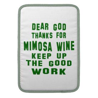 Estimadas gracias de dios por el vino del Mimosa Fundas MacBook