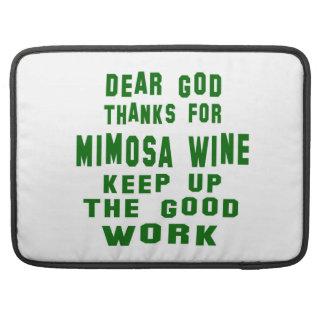 Estimadas gracias de dios por el vino del Mimosa Funda Para Macbooks