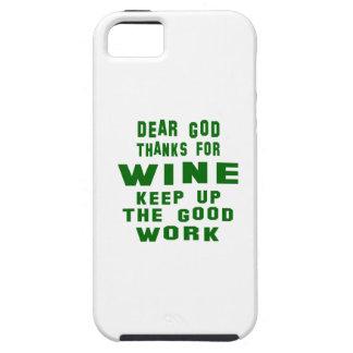 Estimadas gracias de dios por el vino iPhone 5 carcasa