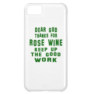 Estimadas gracias de dios por el vino rosado funda para iPhone 5C