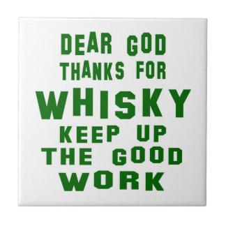 Estimadas gracias de dios por el whisky azulejo cuadrado pequeño