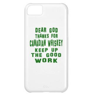 Estimadas gracias de dios por el whisky canadiense funda para iPhone 5C