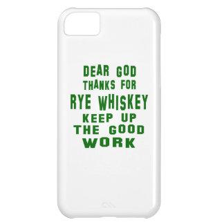 Estimadas gracias de dios por el whisky de Rye Funda Para iPhone 5C