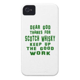 Estimadas gracias de dios por el whisky escocés iPhone 4 fundas