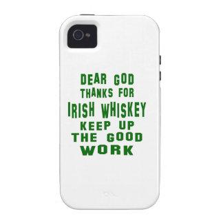 Estimadas gracias de dios por el whisky irlandés Case-Mate iPhone 4 funda