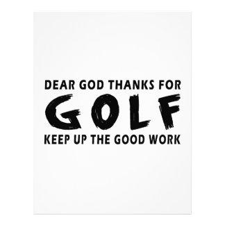 Estimadas gracias de dios por golf membrete personalizado