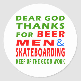 Estimadas gracias de dios por hombres y andar en pegatina redonda