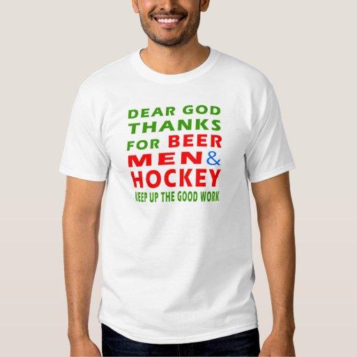 Estimadas gracias de dios por hombres y hockey de playera