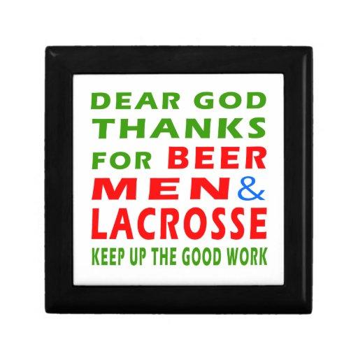 Estimadas gracias de dios por hombres y LaCrosse d Cajas De Recuerdo