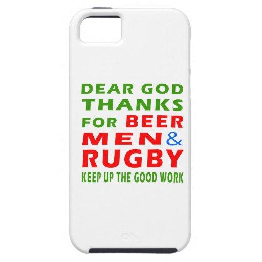 Estimadas gracias de dios por hombres y rugbi de iPhone 5 fundas