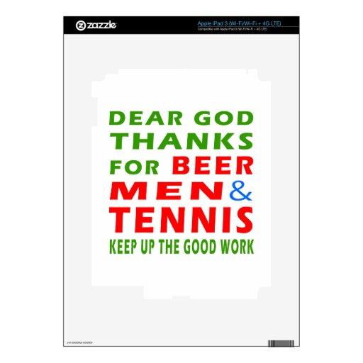 Estimadas gracias de dios por hombres y tenis de l iPad 3 skin