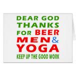 Estimadas gracias de dios por hombres y yoga de la tarjeton