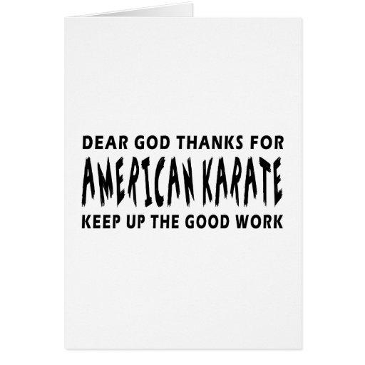 Estimadas gracias de dios por karate americano tarjeta