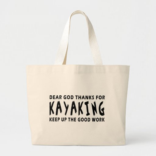 Estimadas gracias de dios por Kayaking Bolsa Tela Grande