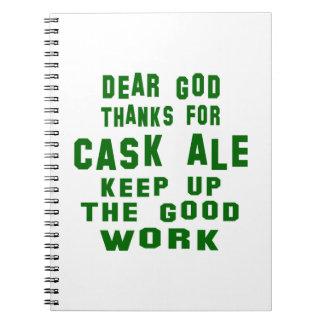 Estimadas gracias de dios por la cerveza inglesa libro de apuntes con espiral